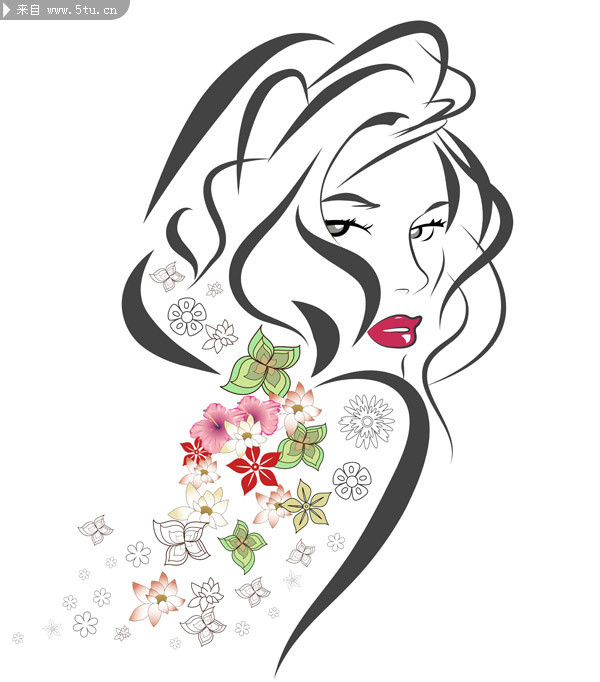 flower girl vector abstract - photo #17