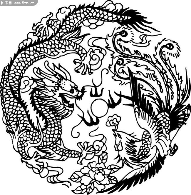 Easy Chinese Patterns To Draw 中国龙图案 矢量...